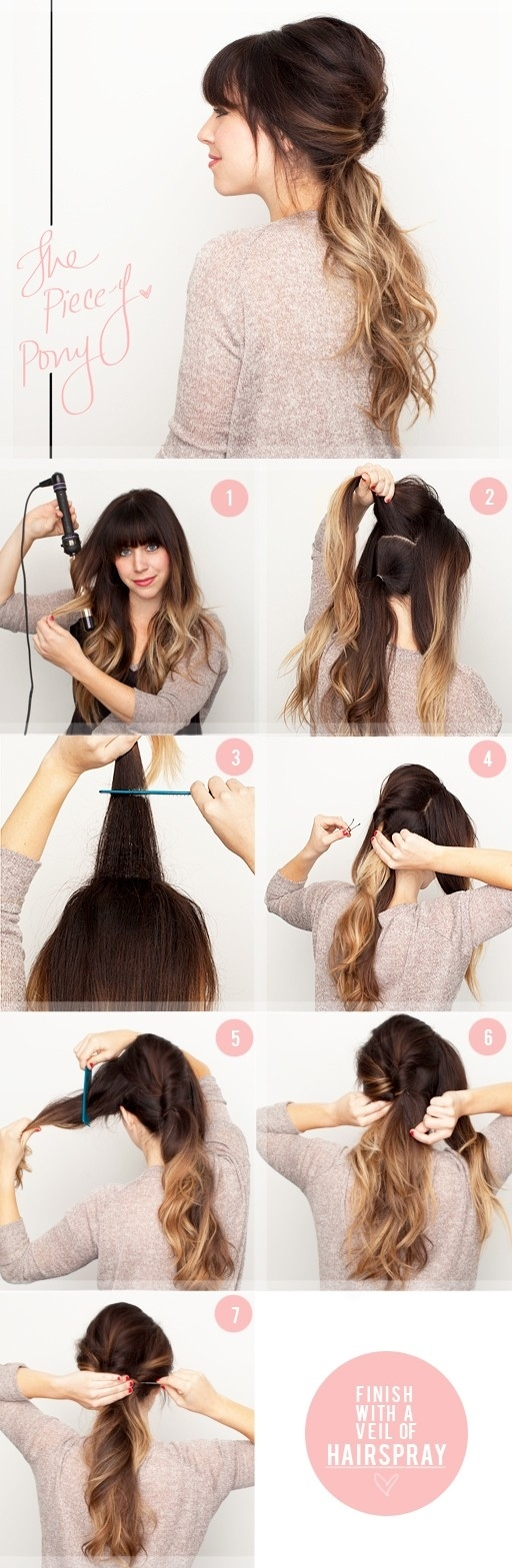 Ombre Ponytail Hairstyle Tutorial for Summer