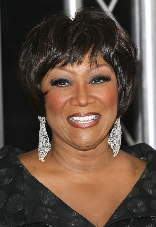 Patti LaBelle Layered Short Haircut with Bangs for Thick Hair