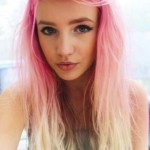 Pink to Blonde Ombre Hair - Pretty Girl's Long Hairstyle