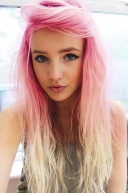 Sensational Pink To Blonde Ombre Hair Pretty Girl39S Long Hairstyle Short Hairstyles For Black Women Fulllsitofus