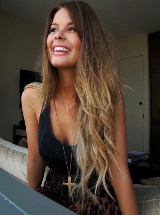 Pretty Brown To Blonde Ombre Hair Color Hairstyles Weekly