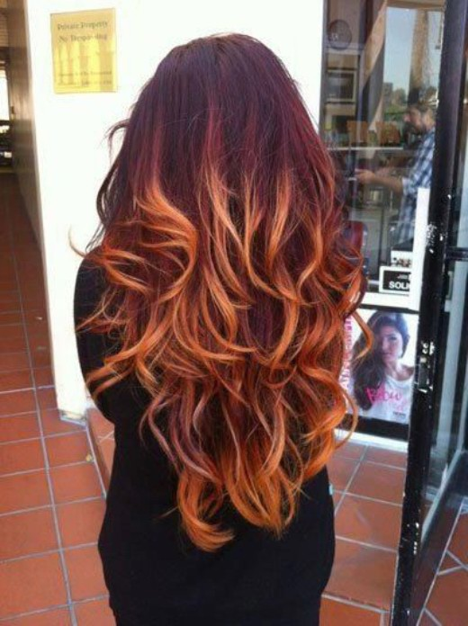 Red Ombre Hair Color for Thick Hair - Hairstyles Weekly