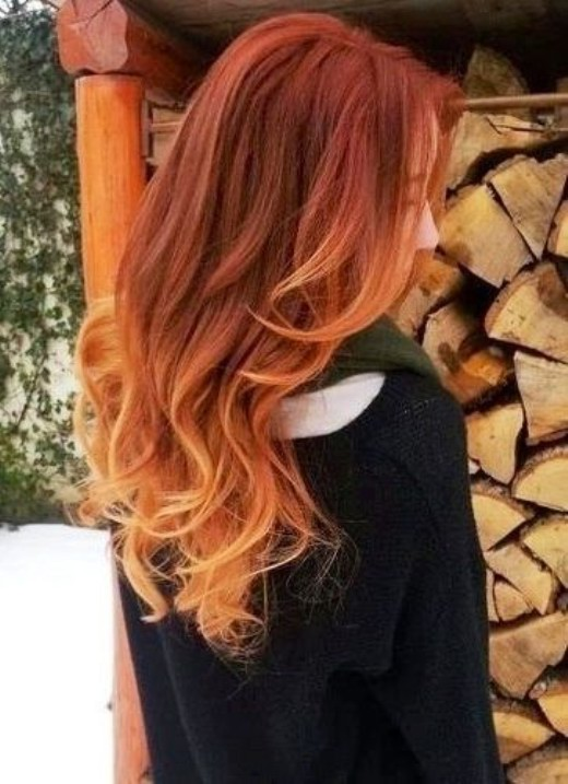 Red to Blonde Ombre Hair for Spring