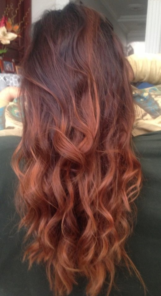 Y Layered Ombre Hair With Waves
