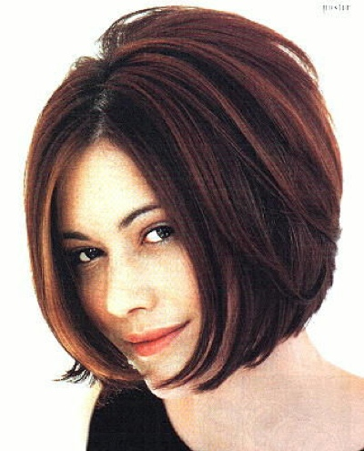 Sexy Short Stacked Bob Hairstyles for Thick hair