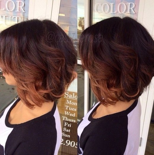 Short ombre bob haircut with layers hairstyles weekly