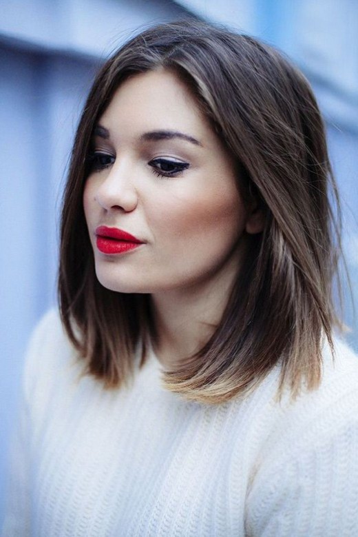 Short Straight Ombre Bob Haircut Hairstyles Weekly