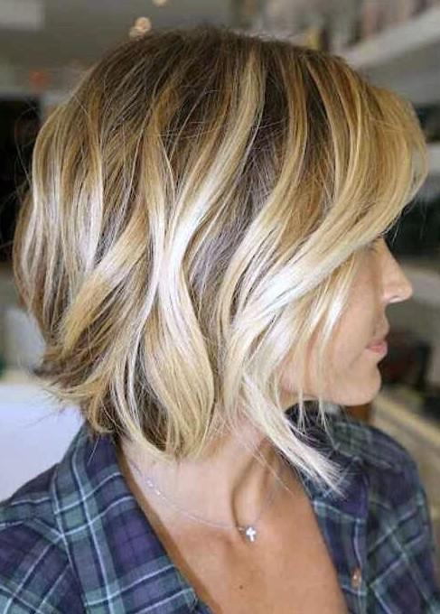 Phenomenal Side View Of The Angled Bob Hairstyle Wave Bob Haircut Short Hairstyles Gunalazisus