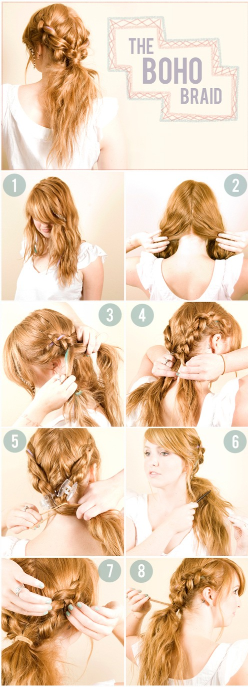 Updo The Boho Braid Tutorial How To Do Messy