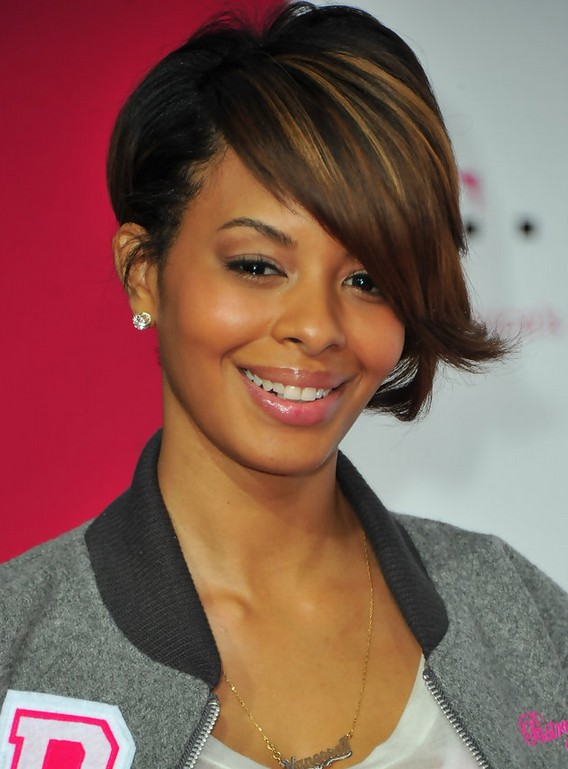 Vanessa Simmons Inverted Bob Haircut with Long Bangs