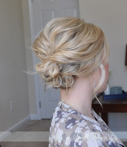 Wedding Party Hairstyle For Thin Hair: 30 Romantic Messy Updos For Wedding 2020- Best Wedding