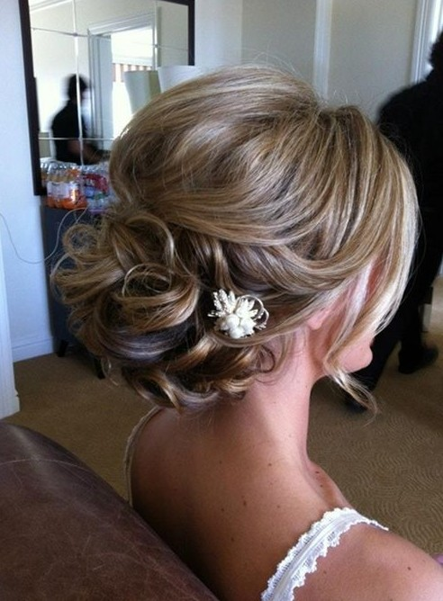 Romantic Updo for Wedding