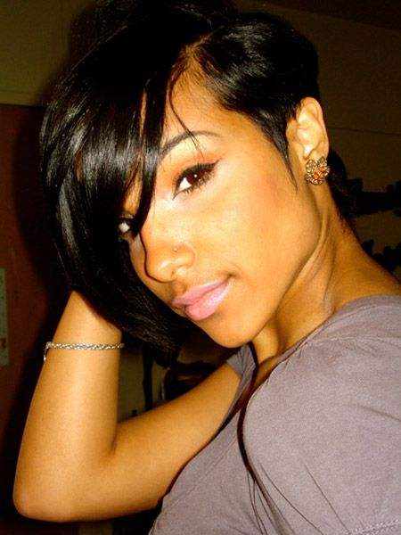 Asymmetrical Hairstyles for black wome