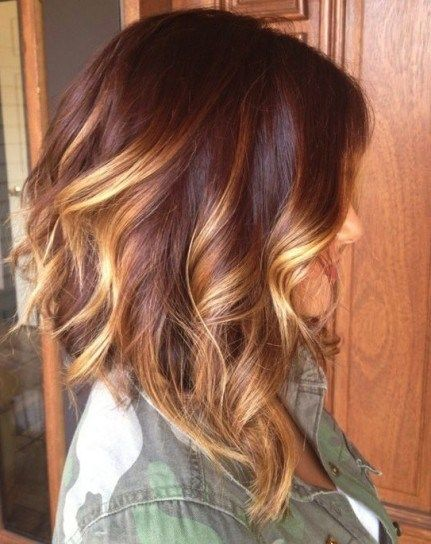 Brown hair with blond highlights