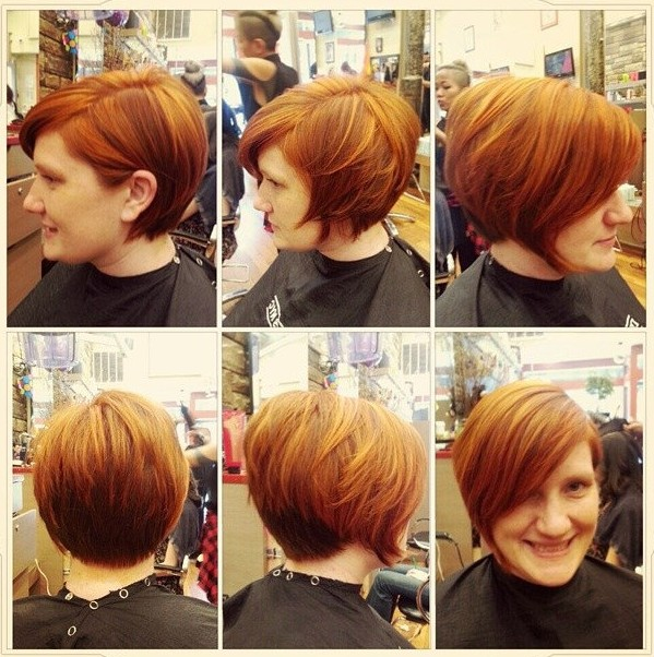 Cool Short Brown Hairstyle with Bangs for Thick Hair