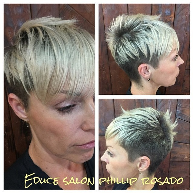 Cool Two Toned Short Haircut with Bangs