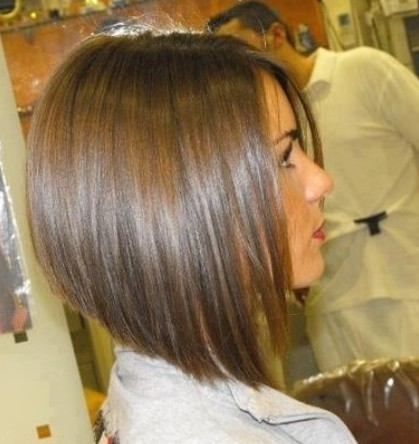 Cute inverted bob cut