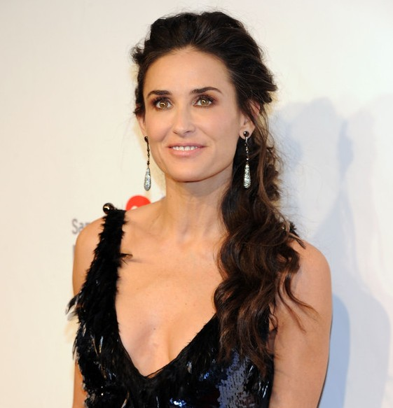Demi Moore Long Hairstyles for Women Over 50