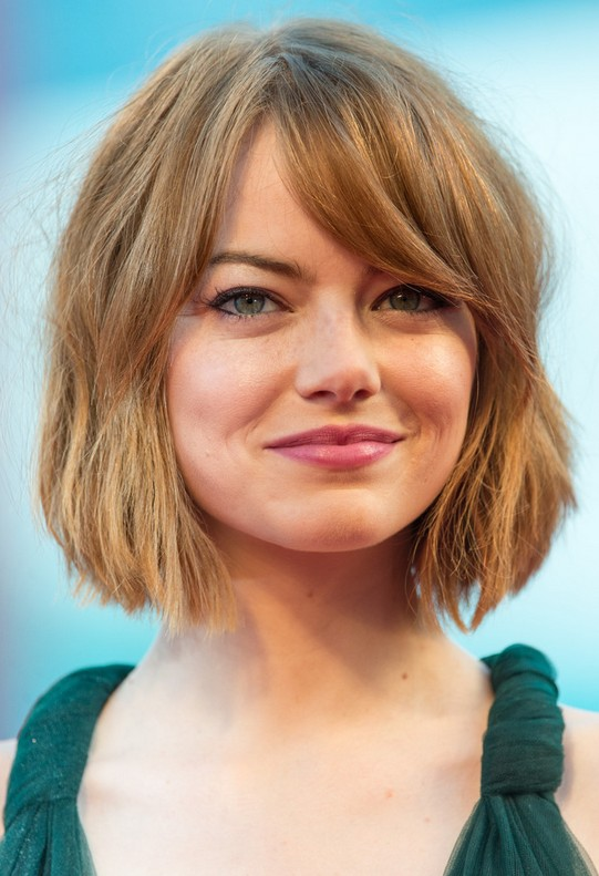 Emma Stone Short Bob cut with bangs