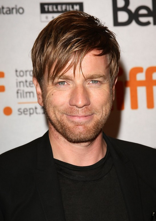 Ewan McGregor Short Side Part Hairstyle for Men
