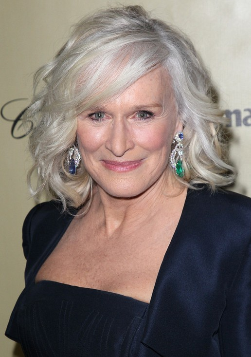 Over 50 Hairstyles jaclyn smith medium curly hair style women over 50 haircuts Glenn Close Medium Blonde Wavy Curly Hairstyle For Women Over 60