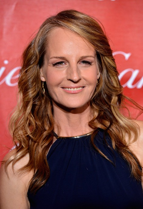 Helen Hunt Long Brunette Wavy Hairstyle for Women Over 50