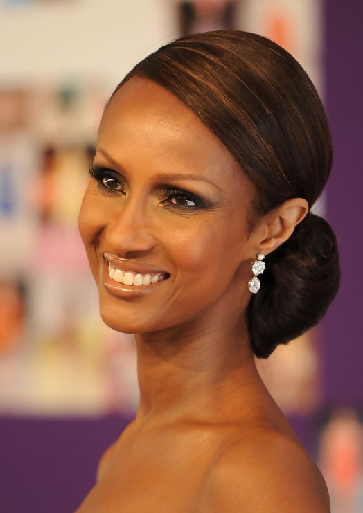 Iman Bun Updo for Black Women Over 50