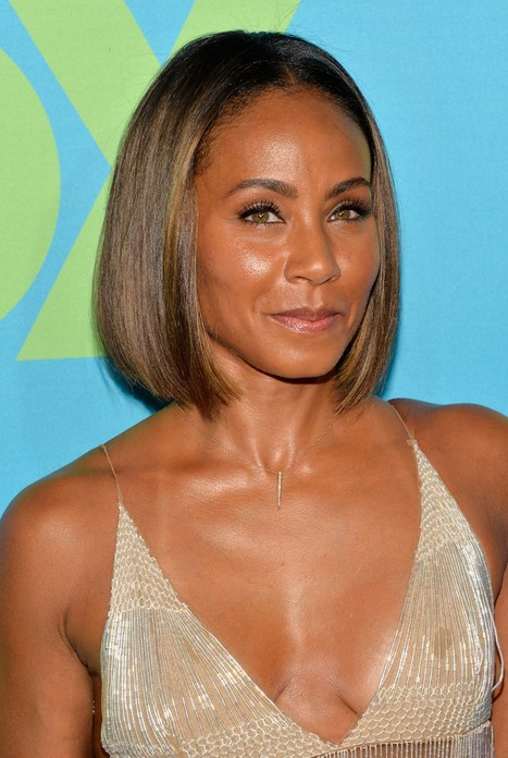 Jada Pinkett Smith Short Straight Bob Haircut for Black Women