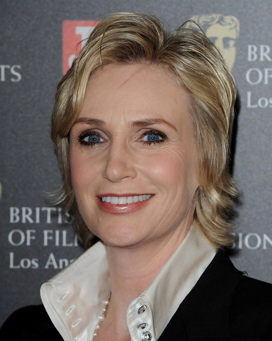 Jane Lynch Short Layered Bob Hairstyle for Women Over 50