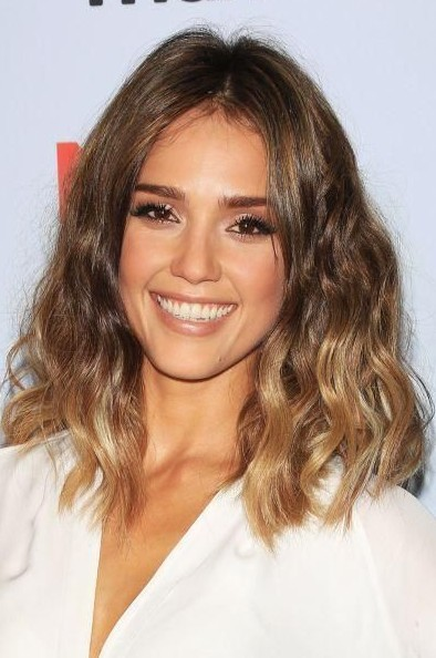 Jessica Alba Ombre Bob Hairstyle for 2014