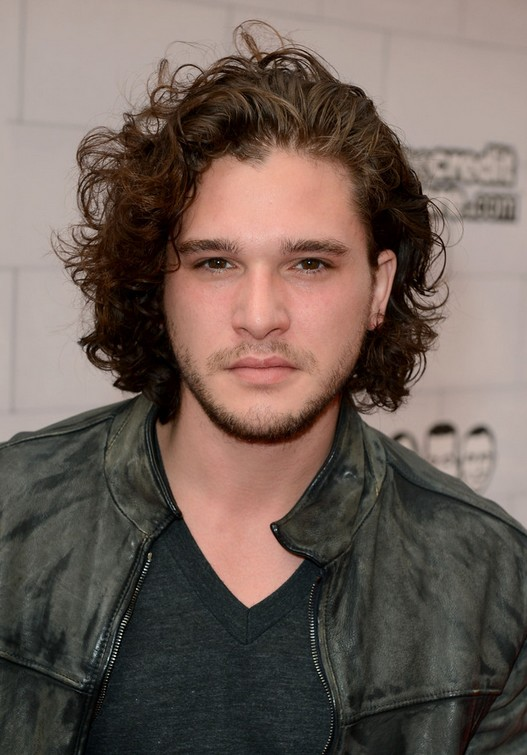 Kit Harington Medium Curly Hairstyles for Men
