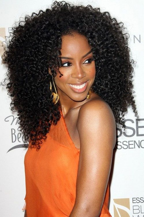 Long Black Curly Hairstyle for Black Women