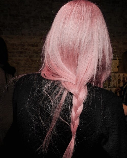 Long Pink Hairstyles for Winter