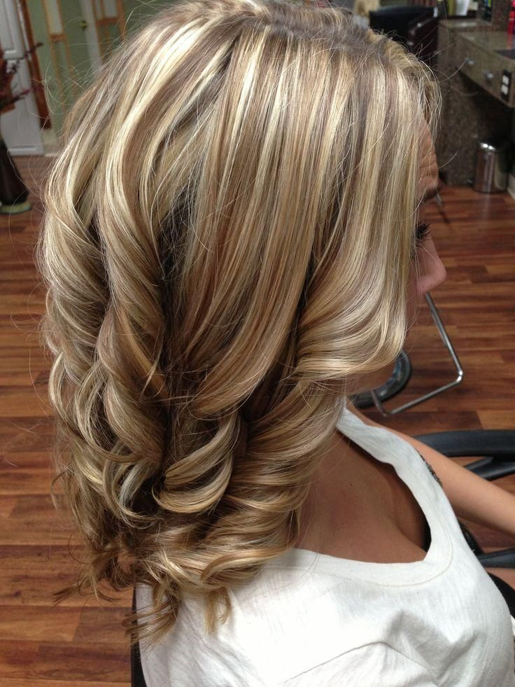 Perfect mixture of blonde highlights brunette lowlights