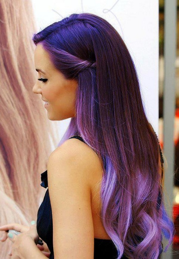 Purple Ombre Hair for women