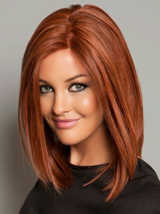 Red lob hairstyle for shoulder length hair