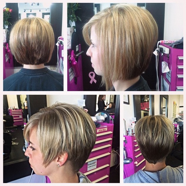 Y Layered Short Bob Hairstyle