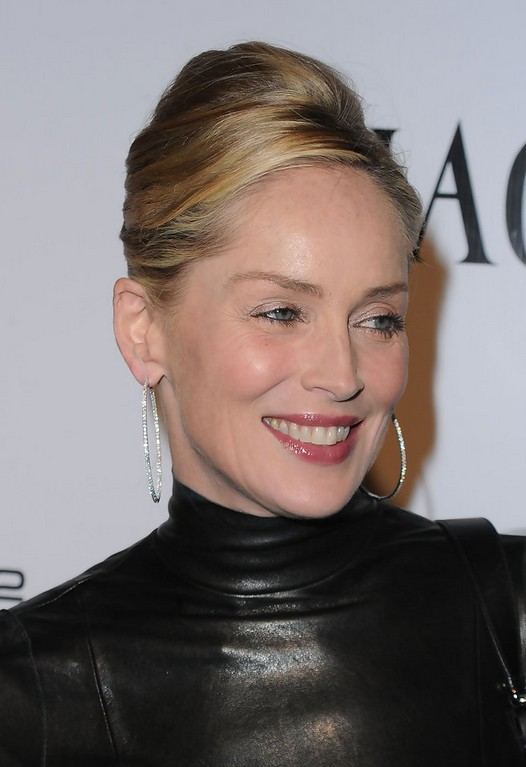 Sharon Stone Updo for Women Over 50