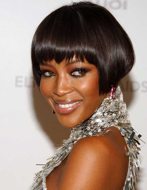 Short Straight Bob Haircut for Black Women 2021