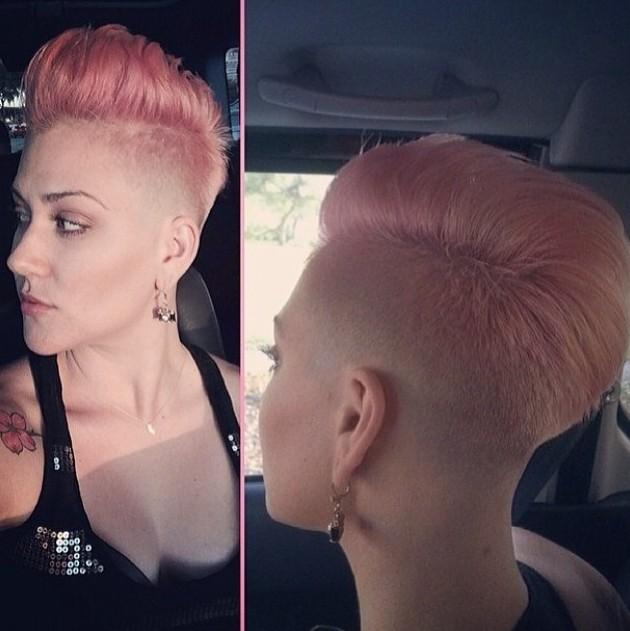 Trendy Short Pink Haircut for Women