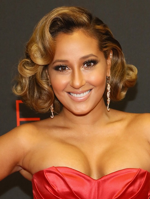 Adrienne Bailon Elegant Short Curly Hairstyle for Prom