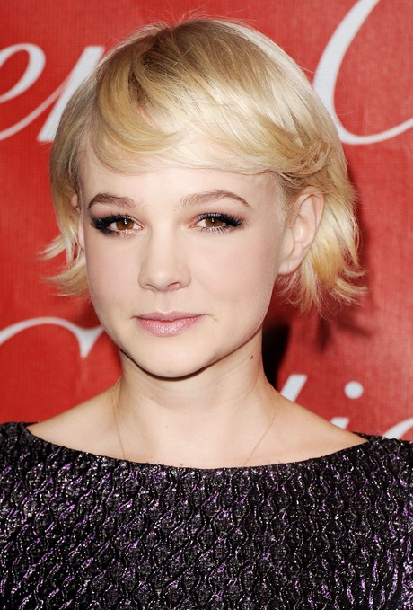 Carey Mulligan Short Hairstyles Soft blonde bob