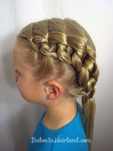 Chunky Knot Hairstyle for Girls