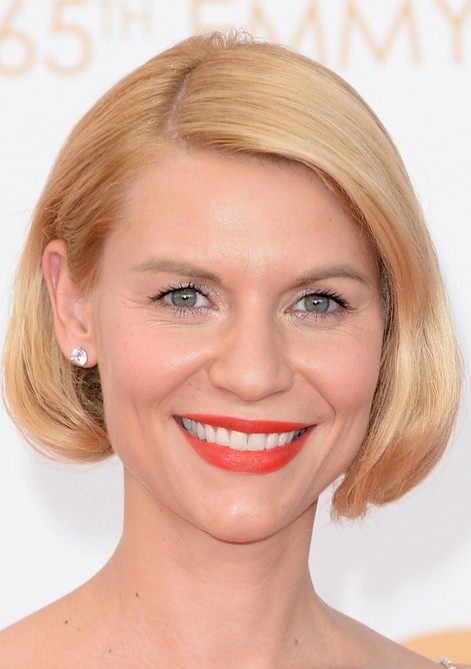 Claire Danes Chic Short Blonde Bob Haircut without Bangs