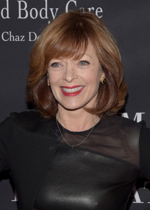 Frances Fisher Layered Medium Wavy Hairstyle with Bangs for Women Over 60
