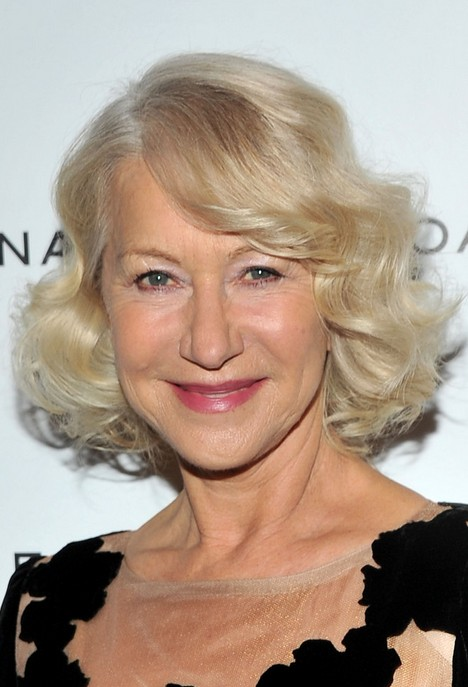 Helen Mirren Layered Bob Hairstyle With Curls For Women
