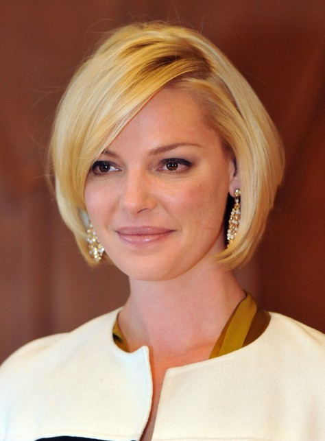 Katherine Heigl Short Straight Bob Haircut for Women