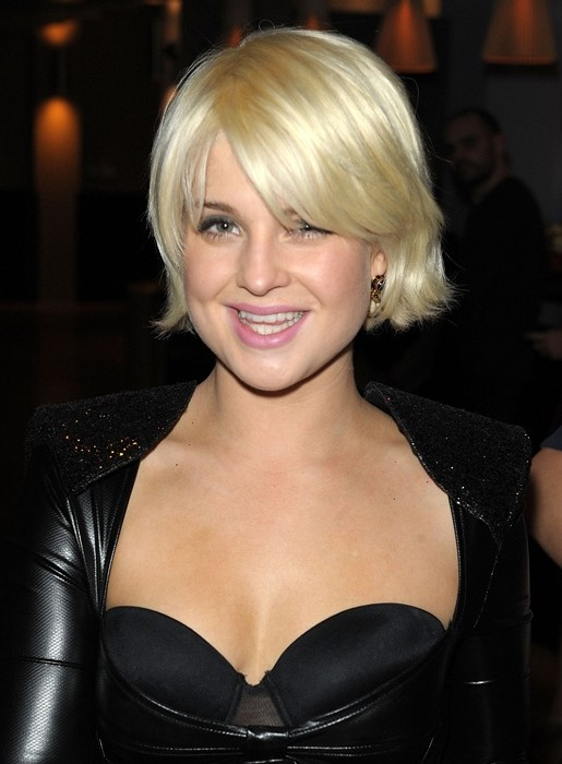 Kelly Osbourne Chin Length Bob Hairstyle with Bangs