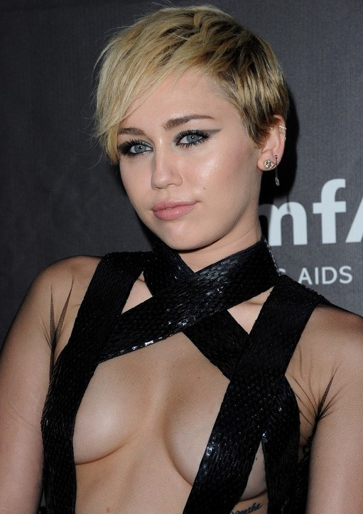 Miley Cyrus Layered Razor Cut with Bangs for Women