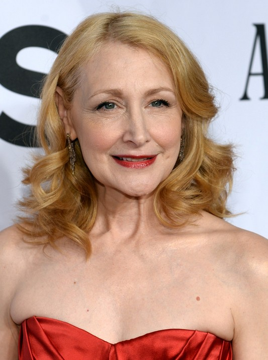 Patricia Clarkson Medium Curly Hairstyle for Older Women Over 50